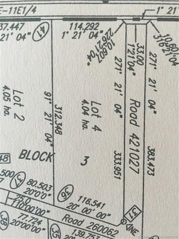 431029 Lot 4 Range Road 261, at $500,000