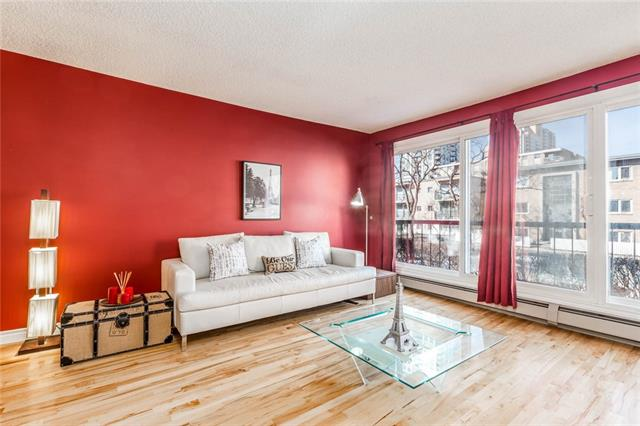 #202 1021 13 AV SW, 2 bed, 1 bath, at $256,800