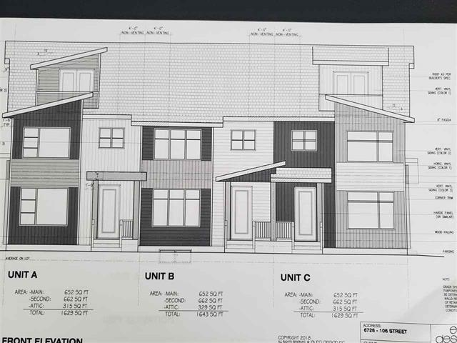 MLS® listing #E4155179 for sale located at 6726 106 Street