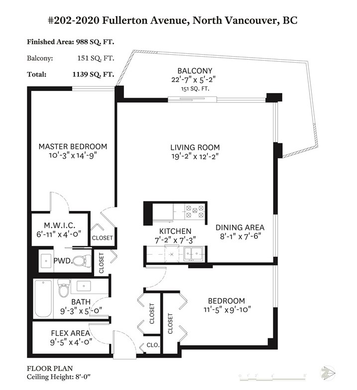 202 2020 FULLERTON AVENUE, 2 bed, 2 bath, at $579,000